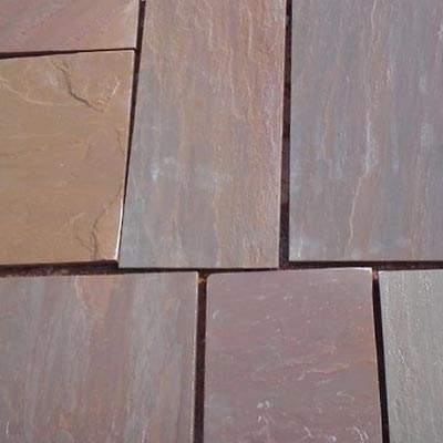 Autumn Brown Patterned Flagstone Swatch
