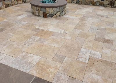 Chestnut Travertine Flagstone Pavers Image 1