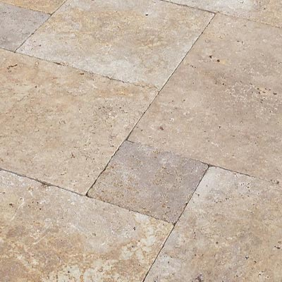Chestnut Travertine Flagstone Pavers Swatch