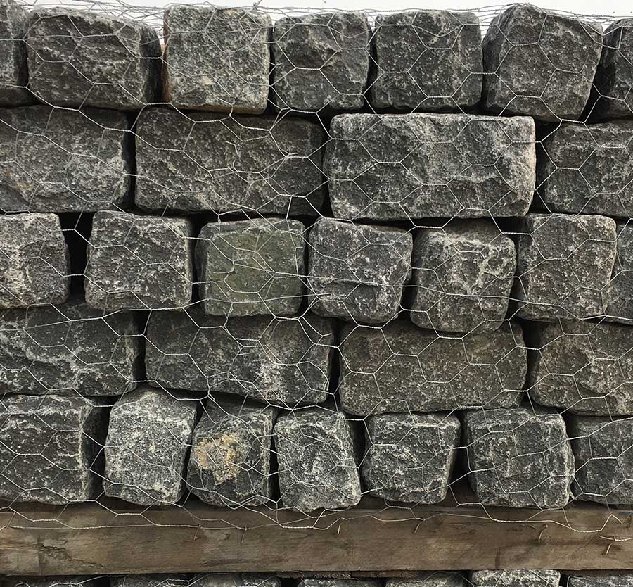Granite Black Cobblestone Rock Swatch