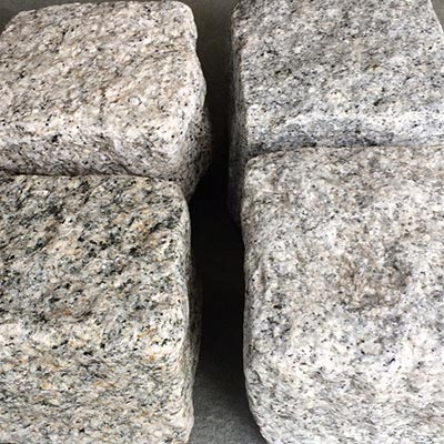 Granite Gray Cobblestone Rock Swatch