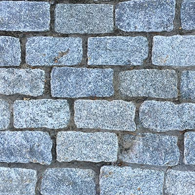 Granite Gray Cobblestone Rock 9x5x5 Swatch