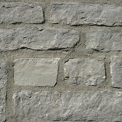 Huebert County Gray Roughly Rectangular Building Stone