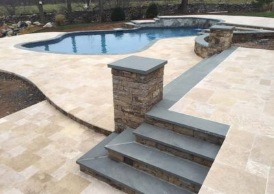 Ivory Travertine Flagstone Pavers Image 1