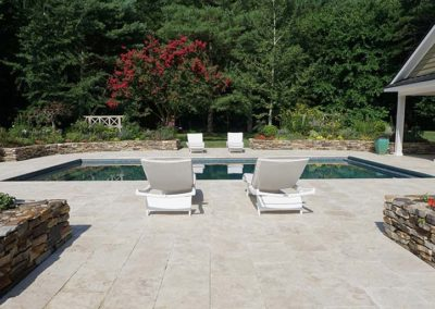 Ivory Travertine Flagstone Pavers Image 5