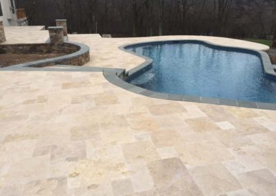 Ivory Travertine Flagstone Pavers Image 8