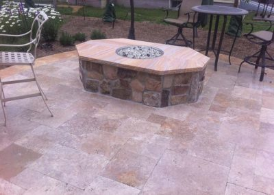 Noce Travertine Flagstone Pavers Image 1