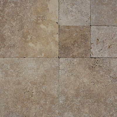 Noce Travertine Flagstone Pavers Swatch