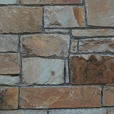 Piney Flats Roughly Rectangular Building Stone Swatch
