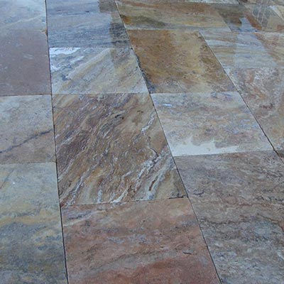Scabbos Travertine Flagstone Pavers Swatch