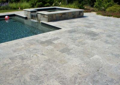 Silver Travertine Flagstone Pavers Image 1