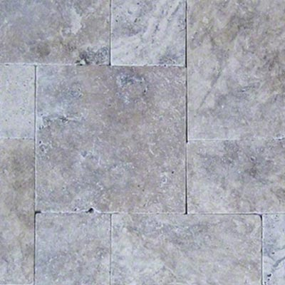 Silver Travertine Flagstone Pavers Swatch