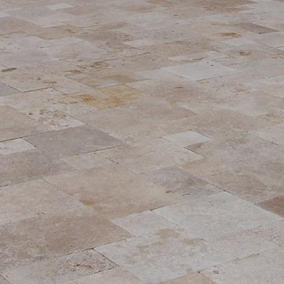 Walnut Travertine Flagstone Pavers Swatch