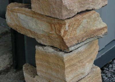 Sawn Thin Stone Corners Stacked